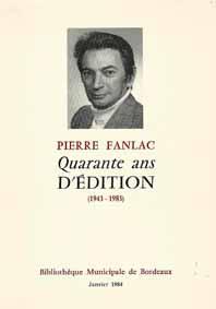 Quarante ans d'Edition - Pierre Fanlac